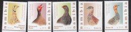 NAMIBIA, 2018, MNH, BIRDS, FRANCOLINS, SPURFOWL,5v - Vogels