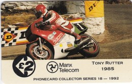 Isle Of Man, 13IOMC, TT Racers 1992,  Tony Rutter, Mint, 2 Scans. - Man (Eiland)