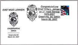 Jefe De Policia CHIEF WILLIE L. JOHNSON. Greenville SC 2007 - Policia – Guardia Civil