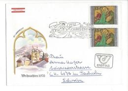 21625 - Christkindl 1976 Lettre Ersttag Pour Sachseln 26.11.1976 St.Lambrecht - Noël