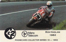 Isle Of Man, 13IOMD, TT Racers 1992,  Ron Haslam, Mint, 2 Scans. - Isle Of Man