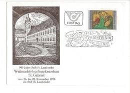 21626 - Christkindl 1976 Lettre Ersttag 26.11.1976  900 Jahre St.Lambrecht - Noël