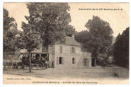 LA FERME DE MALABRY (92) - Entrée Du Bois De Verrières - Excursion De La 20e Section Du P. S. - Ed. Gandon, Paris - Chatenay Malabry
