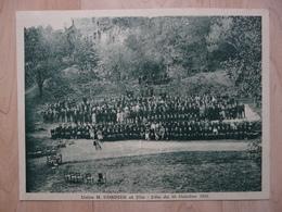 CPA - Carte Photo Grand Format - Fougères - Usine Chaussures H.Cordier  - Fête Du 21/10/1921 - Fougeres