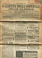 GAZZETTA DEGLI OSPEDALI E DELLE CLINICHE, 1921. ITALY NEWSPAPER WITH STAMP AND OBLITERES CIRCULATED - LILHU - Libri, Riviste, Fumetti
