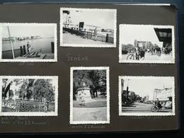 120 PHOTOS ORIGINALES NOIR-BLANC DONT PHOTOS DE VOYAGE D UN JEUNE HOMME ET D UN COUPLE FRANCE SUISSE BELGIQUE ALLEMAGNE - Albums & Collections
