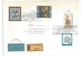 21630 - Christkindl 1984 Lettre Recommandé Pour Birmensdorf 22.12.1984  +vignette über Christkindl - Noël