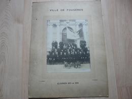 CPA - Photo Ancienne Grand Format P.Lambert - Fougères - Classes 1871 Et 1891 - Anonyme Personen