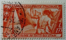 Italie Italy Italia 1932 Drapeau Flag Bandiera Yvert 317 O Used Usato - 1900-44 Victor Emmanuel III.
