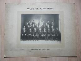 CPA - Photo Ancienne Grand Format P.Lambert - Fougères - Classes 1871, 1891 Et 1911 - Anonyme Personen