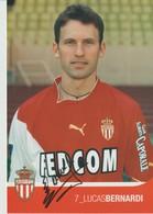 C.P. - PHOTO - A. S. MONACO - SAISON 2003/2004 - LUCAS BERNARDI - 7-  A.S.M. F.C.- FEDCOM - DEDICACEE - STUDIO PHENIX - Football
