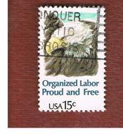 STATI UNITI (U.S.A.) - SG 1804  -  1980  ORGANIZED LABOUR: BALD EAGLE -  USED - Gebraucht