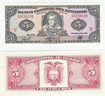 Ecuador  P. 113d  5 Sucres 22.11.1988 ID  02236108 UNC - Ecuador