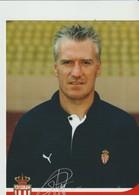C.P. - PHOTO - A. S. MONACO - SAISON 2003/2004 - DIDIER DESCHAMPS -  A.S.M. F.C - FEDCOM - DEDICACEE - STUDIO PHENIX - Football