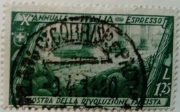 Italie Italy Italia 1932 Voie Romaine Expres Espresso Yvert E21 O Used Usato - Eilsendung (Eilpost)