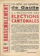 Journal LE RASSEMBLEMENT 27/9/51 / Un Appel Du GENERAL DE GAULLE / Elections Cantonales / Pour Qui Voter ?? - Journaux - Quotidiens
