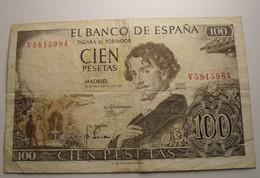 1965 - Espagne - Spain - 100 PESETAS - Madrid, 19 De Novembre De 1965, V5815984 - 100 Pesetas