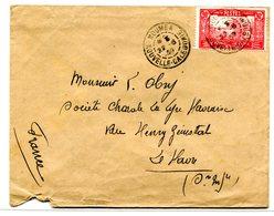 Case De Chef - Yvert 153 - Seul Sur Lettre - Cote Maury 110 Euros - R 5600 - Neukaledonien
