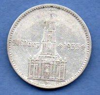 Allemagne -  2 Reichsmark 1934 D  -  état  TTB - 2 Reichsmark