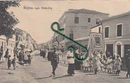 Shkodër , Shkodra , Scutari , Scodra - Procesion Katolik Romak , Roman Catholic Procession + Super Feldpost - Albanie