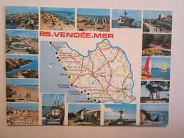 85 Vendée Carte Michelin Fromentine Longeville Sur Mer Bretignolles L'Aiguillon La Tranche La Faute Croix De Vie - France