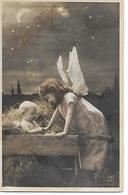 Angel, Ange, Engel, Children, Kinder, Enfants, Bébé Dans La Crèche, Baby In Manger, Photocard - Natale
