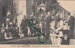 Shkodër , Shkodra , Scutari  - Procesion Katolik Romak , Roman Catholic Procession , Processione Cattolica Romana - Albanie