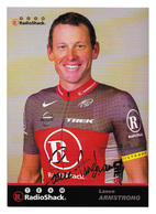 CARTE CYCLISME LANCE ARMSTRONG SIGNEE TEAM RADIOSHACK 2010 - Radsport