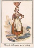 L35B081 -  Une Jolie Basquaise Au 18 ème Siècle Avec Sa Pegarra - Vieilles Gravures - Elcé N°7498 - Personnages