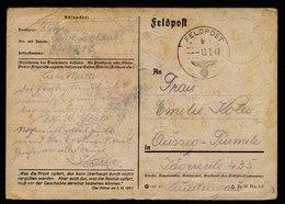 A5959) DR Feldpostkarte Geburtstag 13.07.42 Mit Farbiger Zeichnung - Briefe U. Dokumente