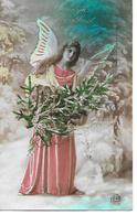 Angel, Ange, Engel, Angelo, Frau, Femme, Woman, Tannenbaum, Chistmas Tree, Arbre De Noël, In Snow, Photocard - Altri