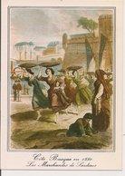 L35B083 -  Les Marchandes De Sardines Partent Vendre Sur La Côte Basque  - Vieilles Gravures - Elcé N°7875 - Personnages