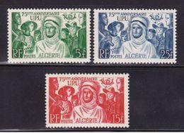 ALGERIA, 1949, 75 Years U.P.U. 3v  MNH - Algérie (1924-1962)