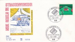 Germany FDC 1971 Strassenverkehr Rechts Fahren   (DD9-19) - Other (Earth)