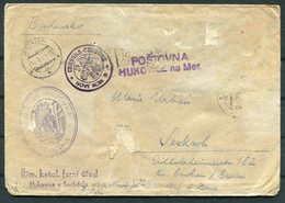 WW2 Czechoslovakia Censor Cover. Postovna Censure Hukovice Suchdolu - Czechoslovakia