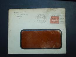Enveloppe à Fenêtre Yvert & Cie AMIENS Tampon 1928 - Publicités