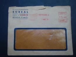 Enveloppe Etablissement SOBEAL Béthune Tampon 7 AOUT 54 - Publicités