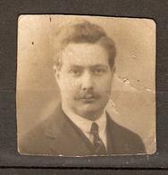 PHOTO ORIGINALE 1925 - PHOTO IDENTITE HOMME MOUSTCHU MOUSTACHE - IDENTITY PHOTO MAN MUSTACHE - Anonymous Persons