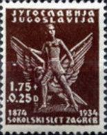 USED  STAMPS  Yugoslavia - The 60th Anniversary Of The Gymnastics Association  -1934 - 1931-1941 Kingdom Of Yugoslavia