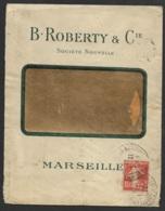 Enveloppe B.Roberty & Cie Marseille-Semeuse Perforé -Ancoper BRC/SN 173 - France