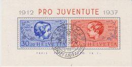 Switzerland 1937 Pro Juventute M/s Used Zurich 18 IV 38 (42174) - Pro Juventute