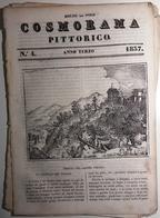 1837 COSMORAMA PITTORICO ANNO TERZO N° 04 TIROLO LONGHI BOLOGNA  Fascicolo Di 8 Pagine – Cm 19,5 X 27,5 Tracce D'uso E D - Libri, Riviste, Fumetti