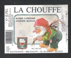 BRASSERIE D'ACHOUFFE - ACHOUFFE - LA CHOUFFE - ARDENSE BLONDE    - 1 BIERETIKET  (BE 280) - Beer