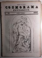 1837 COSMORAMA PITTORICO ANNO TERZO N° 11 MARCHESI LIBANO VESPUCCI SPINO DELLA PASSIONE Fascicolo Di 8 Pagine – Cm 19,5 - Libri, Riviste, Fumetti