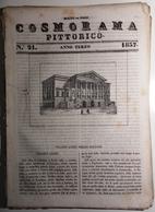 1837 COSMORAMA PITTORICO ANNO TERZO N° 21 BOLOGNA THORWALDSEN INGHILTERRA POLIPI Fascicolo Di 8 Pagine – Cm 19,5 X 27,5 - Libri, Riviste, Fumetti