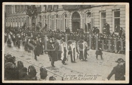 2 Postcards / ROYALTY / Belgique / België / Koning Leopold II / Roi Leopold II / King Leopold II / Funérailles / 1909 - Koninklijke Families