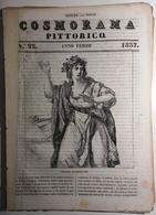 1837 COSMORAMA PITTORICO ANNO TERZO N° 22 BANDETTINI ANTICHI ROMANI JENNO ALLORO Fascicolo Di 8 Pagine – Cm 19,5 X 27,5 - Libri, Riviste, Fumetti