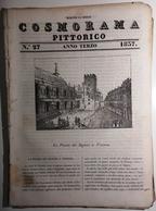 1837 COSMORAMA PITTORICO ANNO TERZO N° 27 VICENZA CALZOLAI POMPEI  INGHILTERRA PESCO Fascicolo Di 8 Pagine – Cm 19,5 X 2 - Libri, Riviste, Fumetti