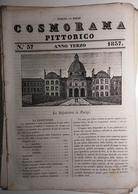 1837 COSMORAMA PITTORICO ANNO TERZO N° 37 PARIGI ALGERI MOLE ADRIANA SIVIGLIA SALAMANDRA Fascicolo Di 8 Pagine – Cm 19,5 - Libri, Riviste, Fumetti