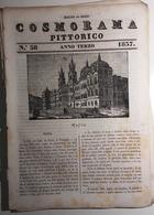 1837 COSMORAMA PITTORICO ANNO TERZO N° 38 MAFRA AGAVE ARIOSTO PARIGI Fascicolo Di 8 Pagine – Cm 19,5 X 27,5 Tracce D'uso - Libri, Riviste, Fumetti